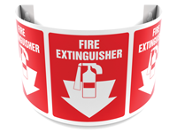 180 Degree Projecting Fire Extinguisher Sign with graphic