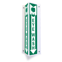 Projecting Aluminum Eyewash Sign