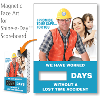 I Promise To Be Safe Scoreboard Magnetic Face