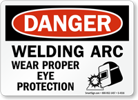 Ppe Signs Welding Arc Wear Proper Eye Protection Sku S