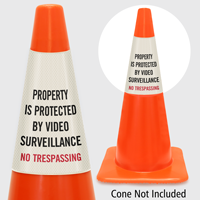 Protected By Video Surveillance No Trespassing Cone Collar