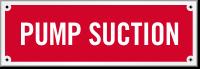Pump Suction Sprinkler Laser Etched Sign