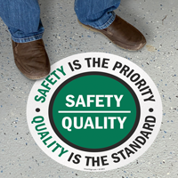 Safety is Priority, Quality is Standard Sign