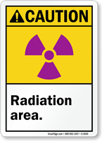Caution ANSI Radiation Area Sign