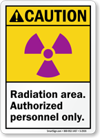 Caution (ANSI) Radiation Area Authorized Sign