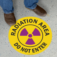 Radiation Area Do Not Enter Floor Safety Sign
