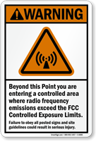 Radio Frequency Emissions ANSI Warning Sign