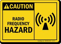 Caution Radio Frequency Hazard Sign