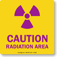 Caution Radiation Area with Graphic