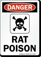 Rat Poison OSHA Danger Sign