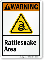 Rattlesnake Area Warning Sign