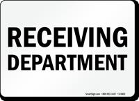 Receiving Department Sign