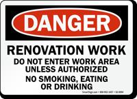 Do Not Enter Unless Authorized OSHA Danger Sign