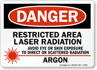 Laser Radiation Avoid Eye Skin Exposure Sign