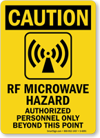 RF Microwave Hazard OSHA Caution Sign
