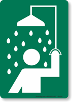 Safety Shower Symbol Sign
