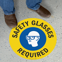 Safety Glasses Required SlipSafe Floor Sign