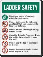 Ladder Safety Instructions Sign Sku S2 2110