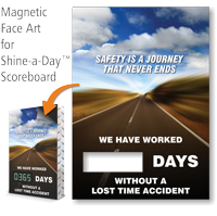 Safety Is Journey That Never Ends Scoreboard Face