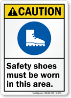 Safety Shoes Must Be Worn In Area Sign