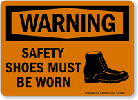 Warning Safety Shoes Must Be Worn Sign