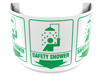 180 Degree Projecting Safety Shower Sign with graphic