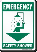 Emergency Safety Shower Sign