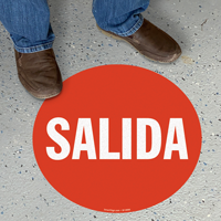 Spanish Salida Slipsafe™ Floor Sign
