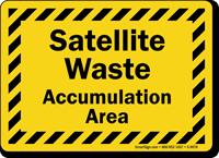 Satellite Waste Accumulation Area Sign