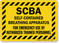 Self-Contained Breathing Apparatus By Authorized Trained Personnel Sign