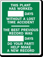 Scoreboard Plant Has Worked Sign