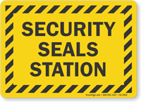 Security Seals Station Truck Signs