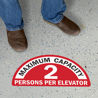 Semi-Circle - Maximum Capacity Sign