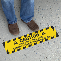Area Contains Sensitive Electronic Devices Floor Sign