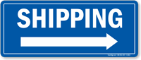 Shipping Right Arrow Sign