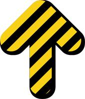 Short Arrow Floor Marker With Stripes