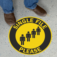 Single File Please SlipSafe Floor Sign