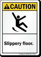 Caution (ANSI): Slippery Floor