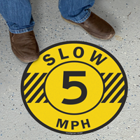 Slow 5 Mph Floor Sign