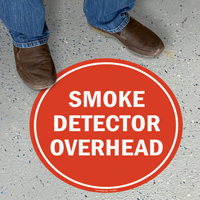 Smoke Detector Overhead Floor Sign