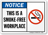 This Is A Smoke-Free Workplace (symbol) Sign