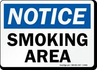 Notice: Smoking Area