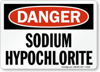 Bleach Sodium Hypochlorite Sign