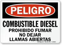 Combustible Diesel Prohibido Fumar, Spanish Diesel Fuel Sign