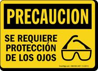 Se Requiere Proteccion De Los Ojos Spanish Sign