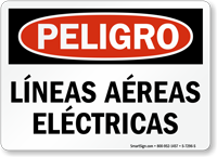 Lineas Aereas Electricas, Spanish Overhead Power Lines Sign