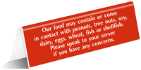 Speak To Your Server Tent Sign