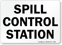 Spill Control Station Sign