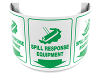 180 Degree Projecting Spill Response Equipment Sign