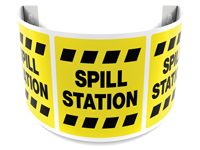 180 Degree Projecting Spill Station Sign with border